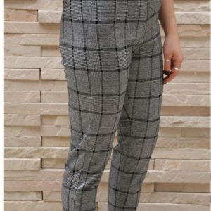 Slimpant Grey Check knit