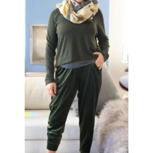 Dark Green Crop Knit