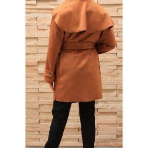 Wrap Coat Tan
