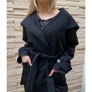 Wrap Coat Black