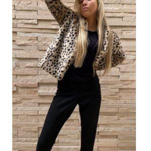 Cheetah Faux Fur Jacket