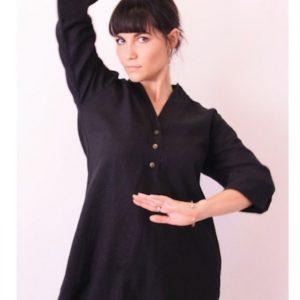 Black Tunic linen rayon