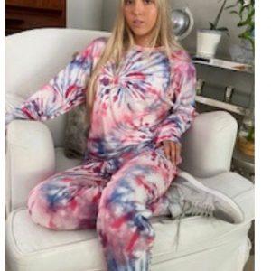 Lounge Set Pink Tie dye