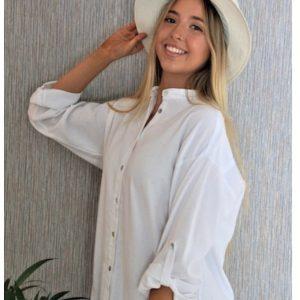 White Mandarin Shirt
