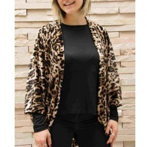 Kimono Leopard velour