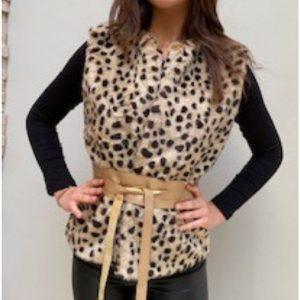 Cheetah Faux Fur Body Warmer