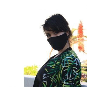 Ladies Mask  Plain Black