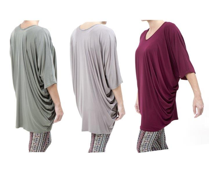2017 Collage Drape Top – Side