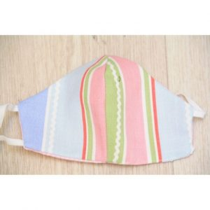 Kids Mask Pink Stripes