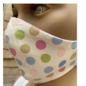Kids Mask Pink Dots