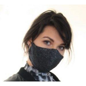 Ladies Mask Black Shimmer