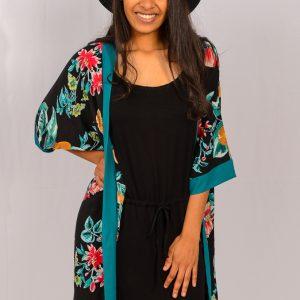 SS21 Black Benito Dress w Kimono