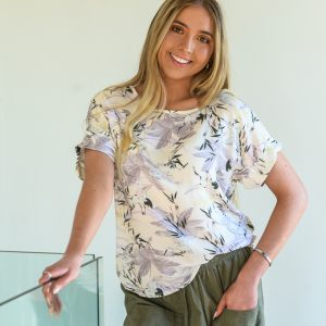 SS21 Boxy Top Milk & Olice w Olive Crop Pant