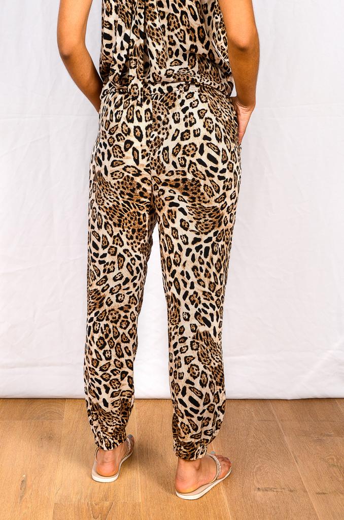 SS21 Choc Leopard Cuff Pant back