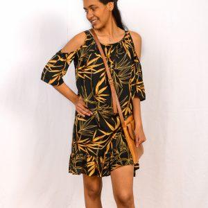 SS21 Copper & Black Boho Dress w bag
