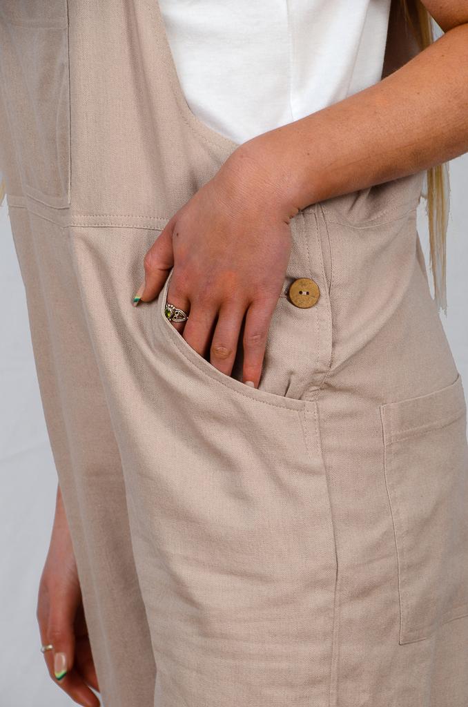 SS21 Dungaree Short pocket close up