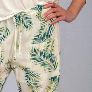SS21 Fern & White Cuff Pant pocket close up