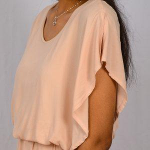 SS21 Flatterdress Blush close up sleeve