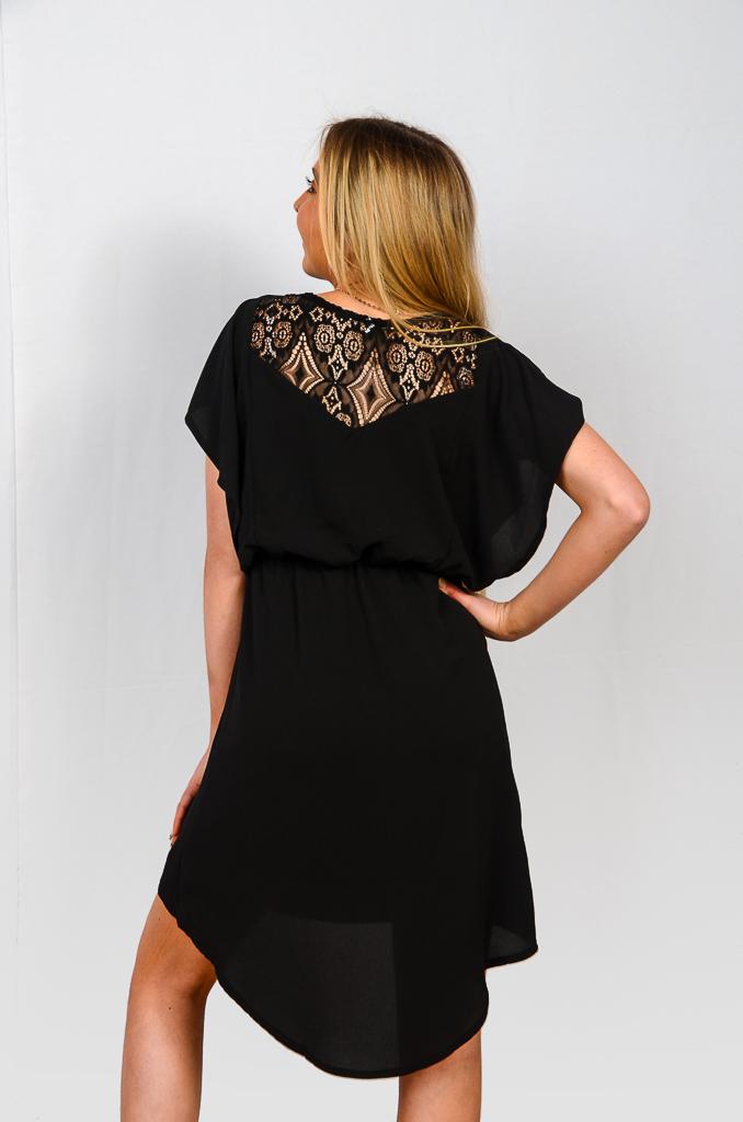 SS21 Flutterdress Black back