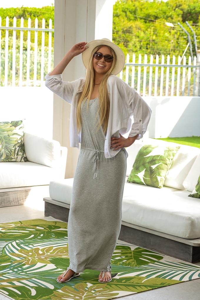 SS21 Grey Benito Dress & White Shirt