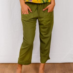 SS21 Olive Cropped Pant