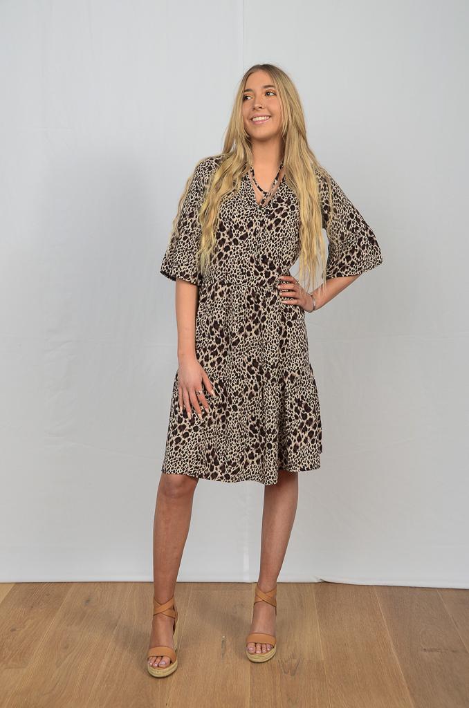 SS21 Ruffle Dresses Brown Cheetah full