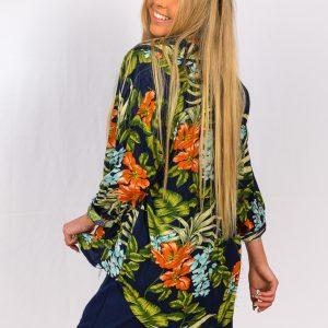 SS21 Shirt Navy Floral back