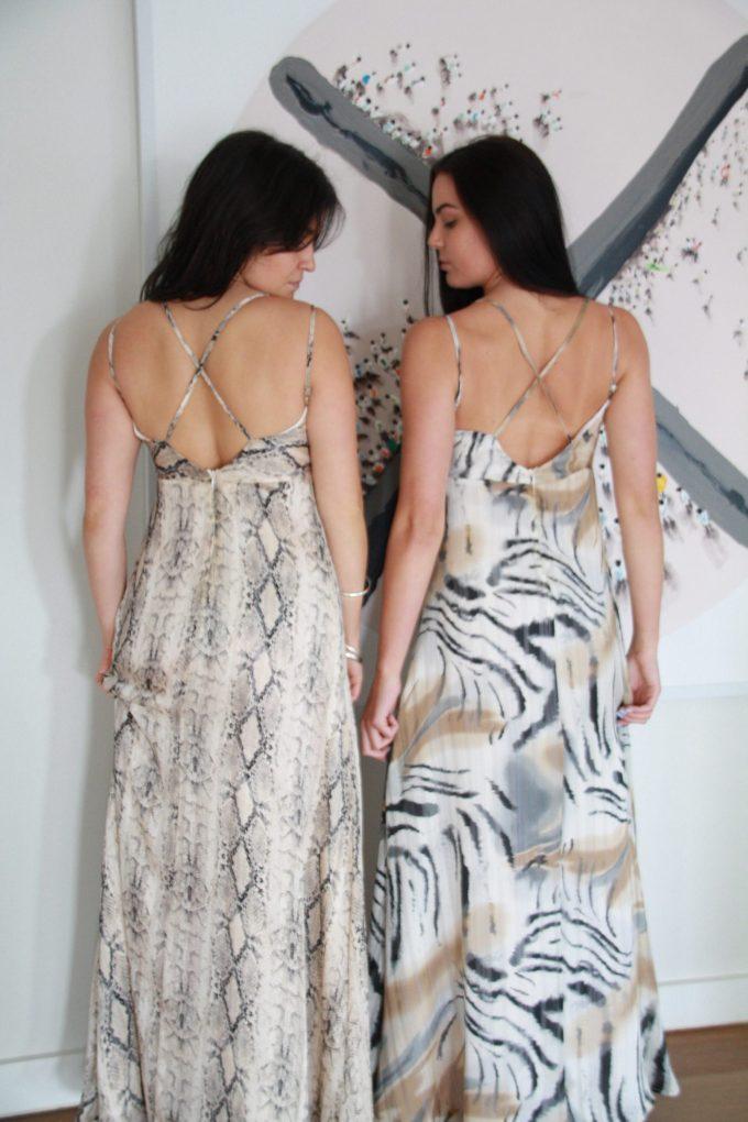 SS21 Strappy Long Dress backs