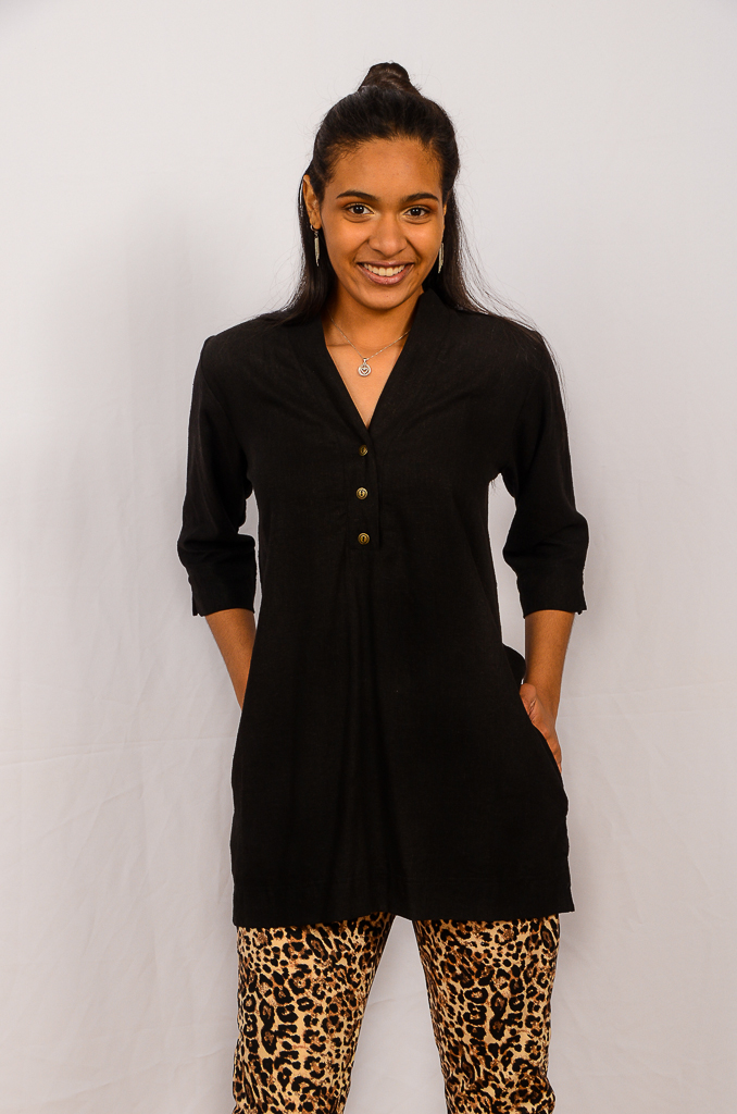 SS21 Tunic Black Linen Rayon