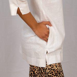 SS21 Tunic White pocket close up